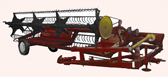 A ROLLING TOWED REAPING-MACHINE ZhVP- 4,9